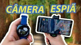 Controlando a câmera do celular pelo smartwatch Gear Sport