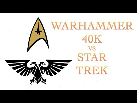 Star Trek Ships vs Warhammer 40K