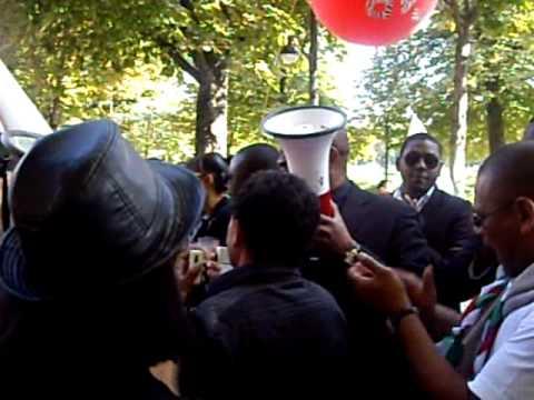 GABON Post Election 2009 : Marche du 12 sept 2009 à Paris - Part 1/3