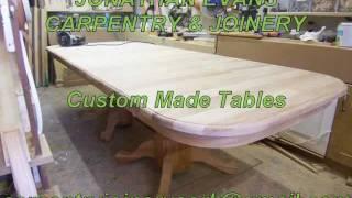 Jonathan Evans, Carpentry Joinery Ballincollig Cork, 086/2604787 Custom Made Tables