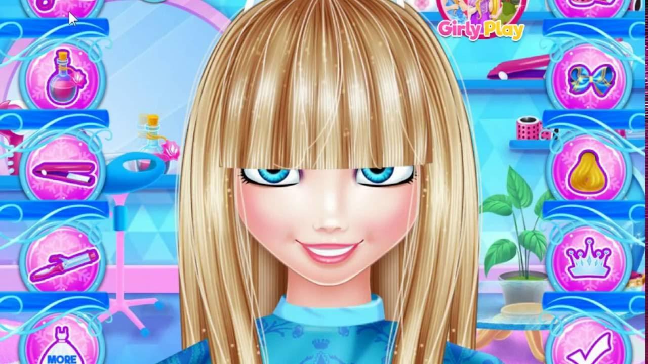 Jocuri Coafuri Reale Cu Barbie La Coafor Pe Ciupicicom Youtube