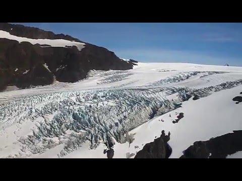 Kachemak Bay State Park Glaciers (Alaska) from a plane - HD