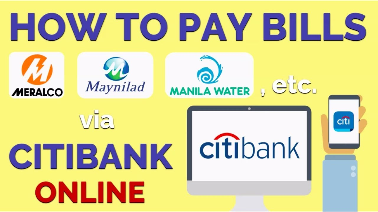 How to Pay Utility Bills Online Using Citibank Credit Card