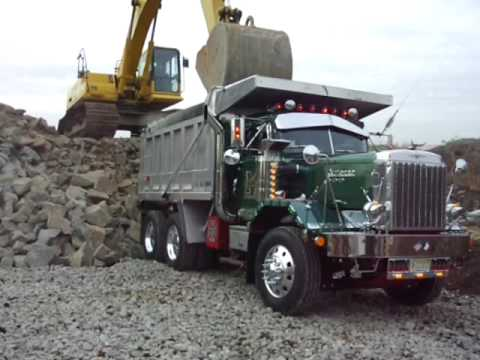 Autocar Dump Truck Getting Loaded Youtube