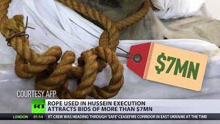 Rope used to hang Saddam Hussein on sale