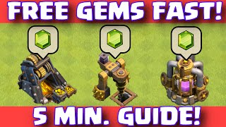 Clash Of Clans FREE GEMS EASY FAST WAY TO EARN FREE GEMS | WORLD'S FASTEST EASIEST FREE GEMS thumbnail