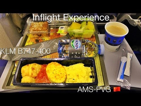 KLM Economy Inflight Experience | Boeing 747-400 AMS-PVG