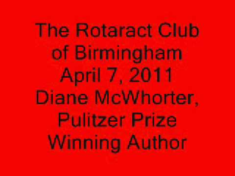 Diane McWhorter Speaks to The Rotaract Club of Birmingham Part 1