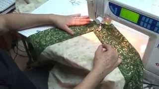 Tia Lili Patchwork: veja como fazer uma toalha natalina com canto mitrado
