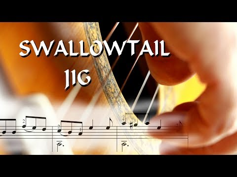 Swallowtail Jig - Easy Guitar Tutorial (score & TAB)