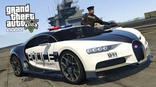 GTA 5 Mods - PLAY AS A COP MOD!! GTA 5 Police Bugatti Chiron Mod Gameplay! (GTA 5 Mods Gameplay)
