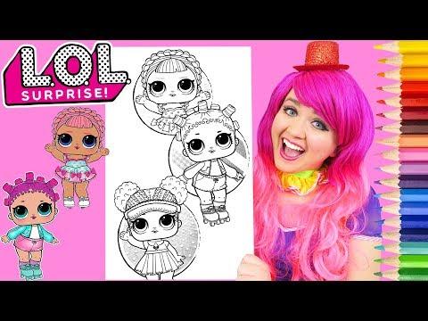 Coloring LOL Surprise Dolls Athletic Club Coloring Page Prismacolor Pencils | KiMMi THE CLOWN