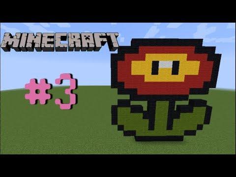Pixel Art Minecraft Fleur De Feu 3
