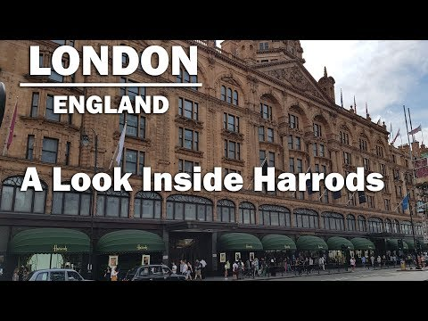 STORE TOUR | Walking around Harrods, shopping paradise for the mega rich in London England [HD]