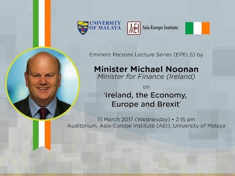 EMINENT PERSONS LECTURE SERIES (EPELS) :  'Ireland, the Economy, Europe and Brexit'