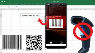 How to use Mobile as a Barcode / QR Code Scanner for MS Excel / MS Word screenshot 5