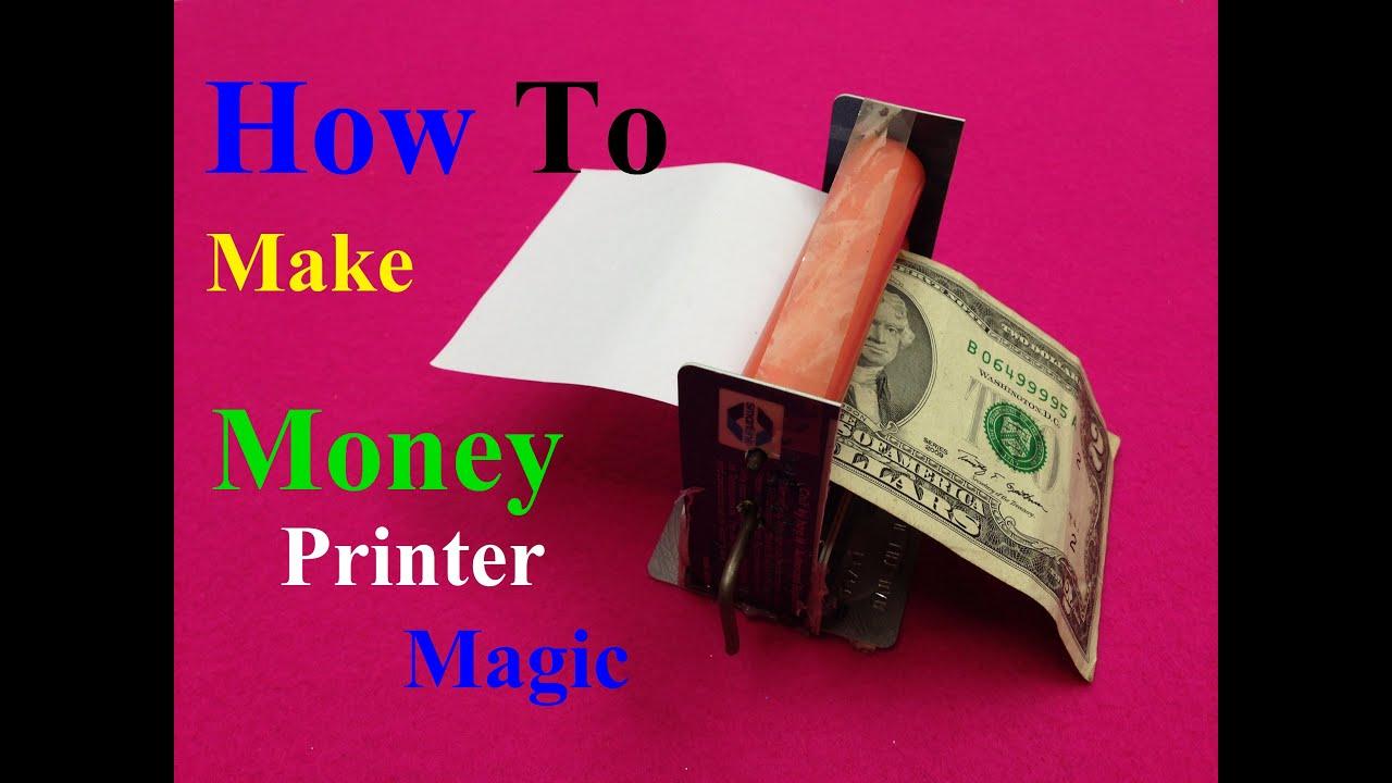 How to make money printer machine magic trick simple diy for Diy to make money