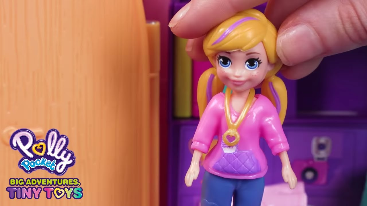 Download Tiny Tidy Up 💜Polly Pocket Toy Play   Polly Pocket