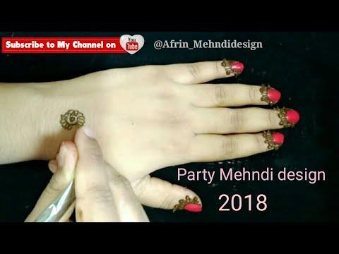 Party Mehndi design 2018 /Beautiful & Elegant /Easy simple henna Mehendi designs tutorial