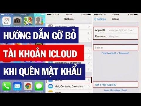 Hướng dẫn gỡ bỏ tài khoản iCloud khi quên mật khẩu