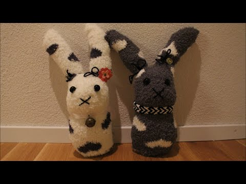 diy oster special osterhasen aus socken l basteln zu. Black Bedroom Furniture Sets. Home Design Ideas