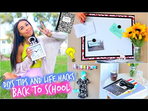 DIY Room Decorations + MAJOR Life Hacks for Back To School! | MyLifeAsEva