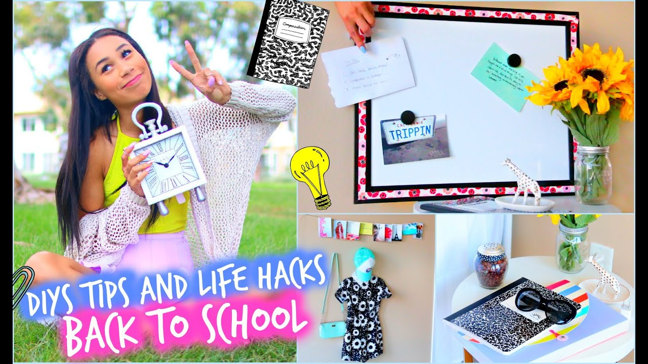 diy room decorations + major life hacks for back to school! - youtube