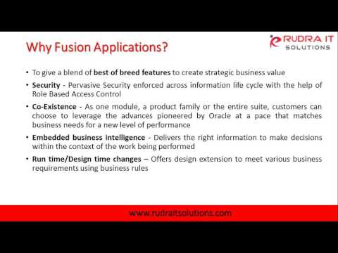Oracle Fusion HCM Cloud Interactive Session @Rudra IT Solutions