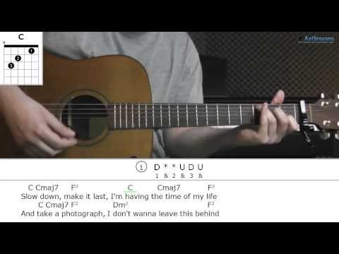 How to play All I Ever Wanted with Brian Melo (Guitar lesson)