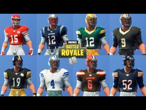 Fortnite NFL Skins - All 32 NFL Skins Previewed + Referee And Fortnite Jersey's