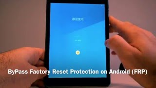 ByPass Factory Reset Protection on Android FRP with no OTG, no ROOT, no Cable