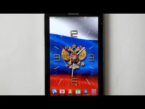 Часы с флагом Россия  LWP, живые обои для ОС Андроид