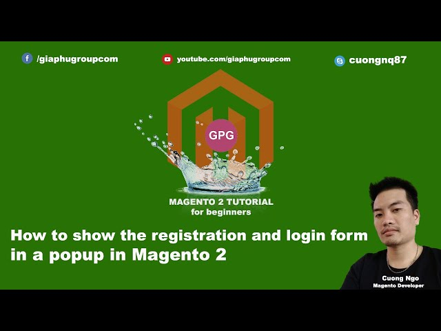 How to show the registration and login form in a popup in Magento 2