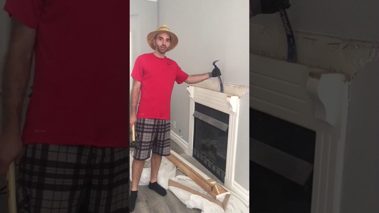 Greg The Contractor Removing A Fireplace And Mantel Fake Redneck