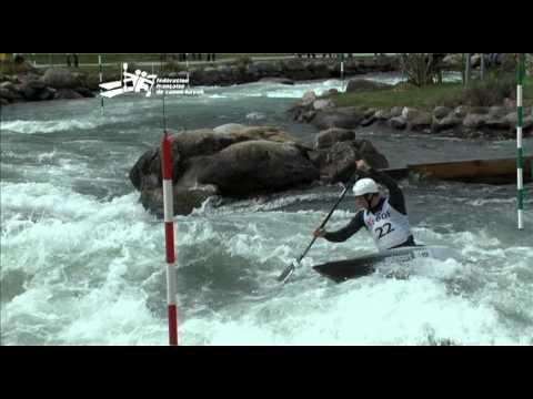 Sélections Slalom 2012, interview Tony ESTANGUET, vainqueur course 2 C1H