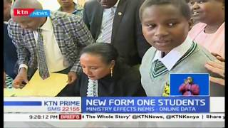 New form one students report to school