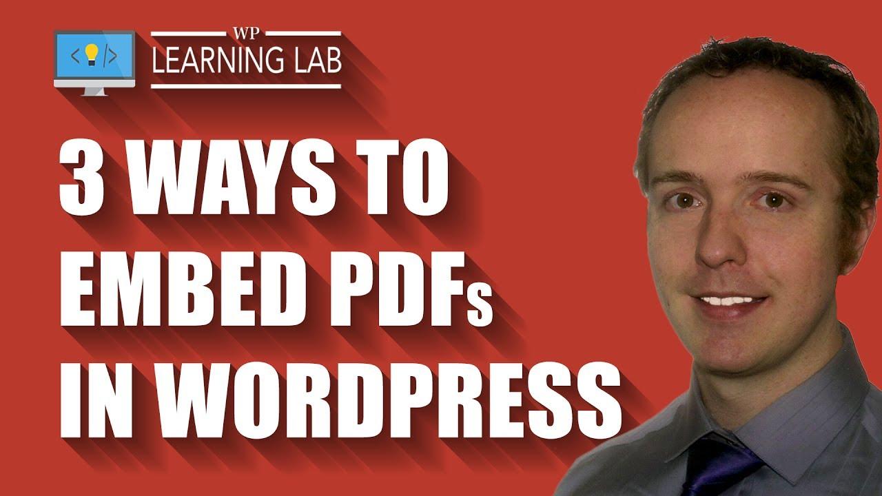 Wordpress Pdf Not Open