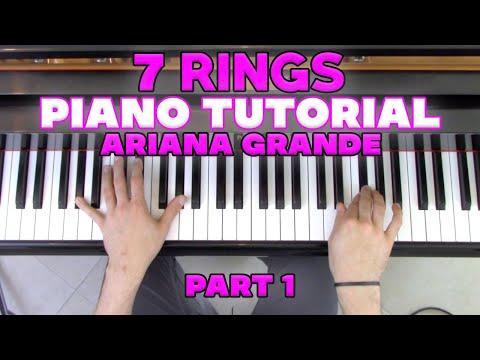 """7 RIngs"" - Piano Tutorial (1/2) + Sheet Music - Ariana Grande | George Vidal thumbnail"