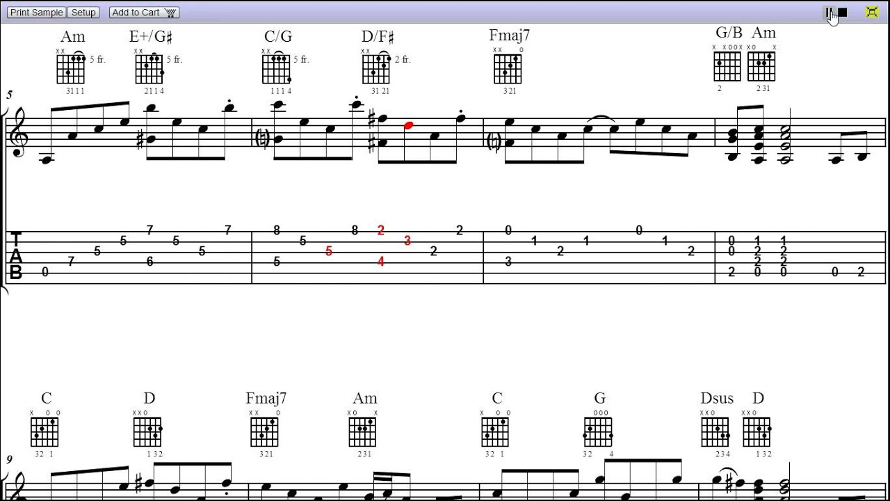Stairway To Heaven Led Zeppelin Tablature Music T