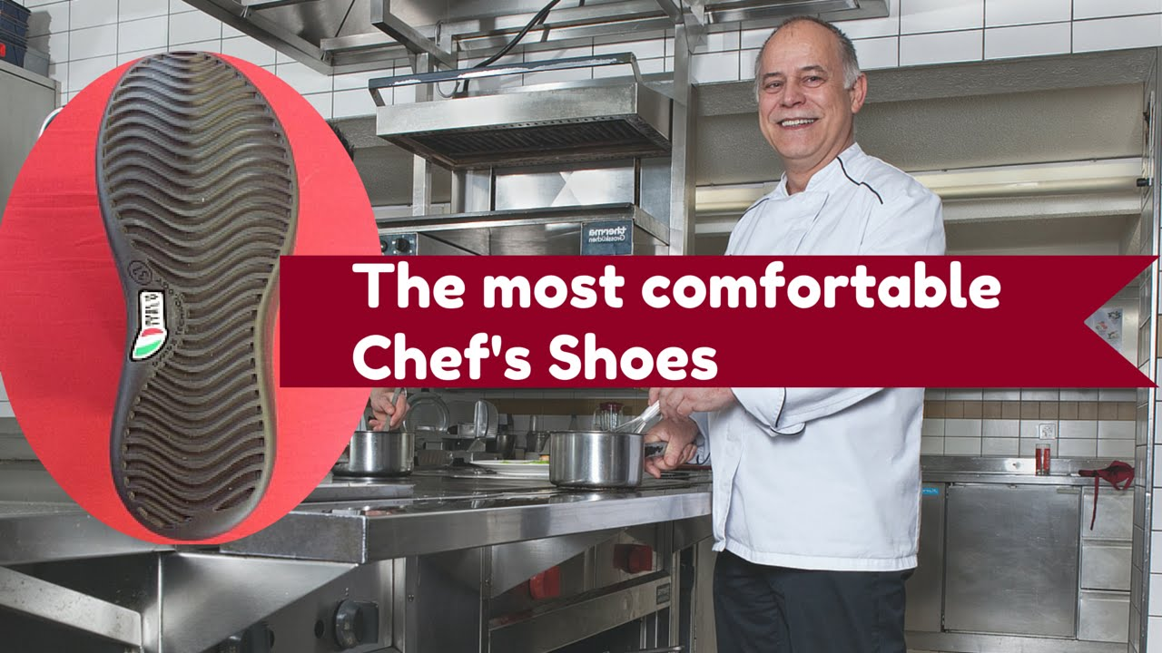 shoes for work in the kitchen pull down cabinets disabled most comfortable chefs youtube