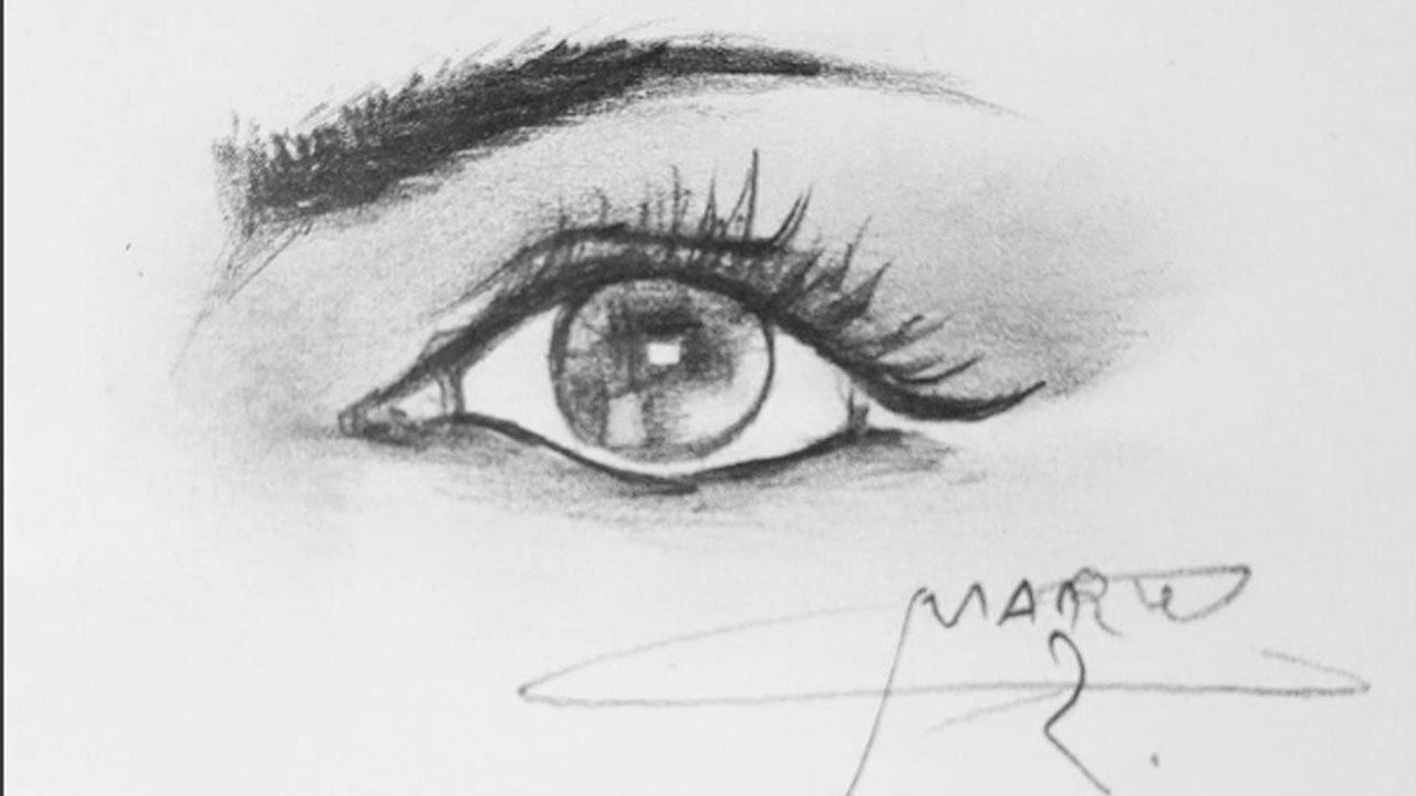 تعلم رسم العين بالقلم الرصاص للمبتدئين Youtube