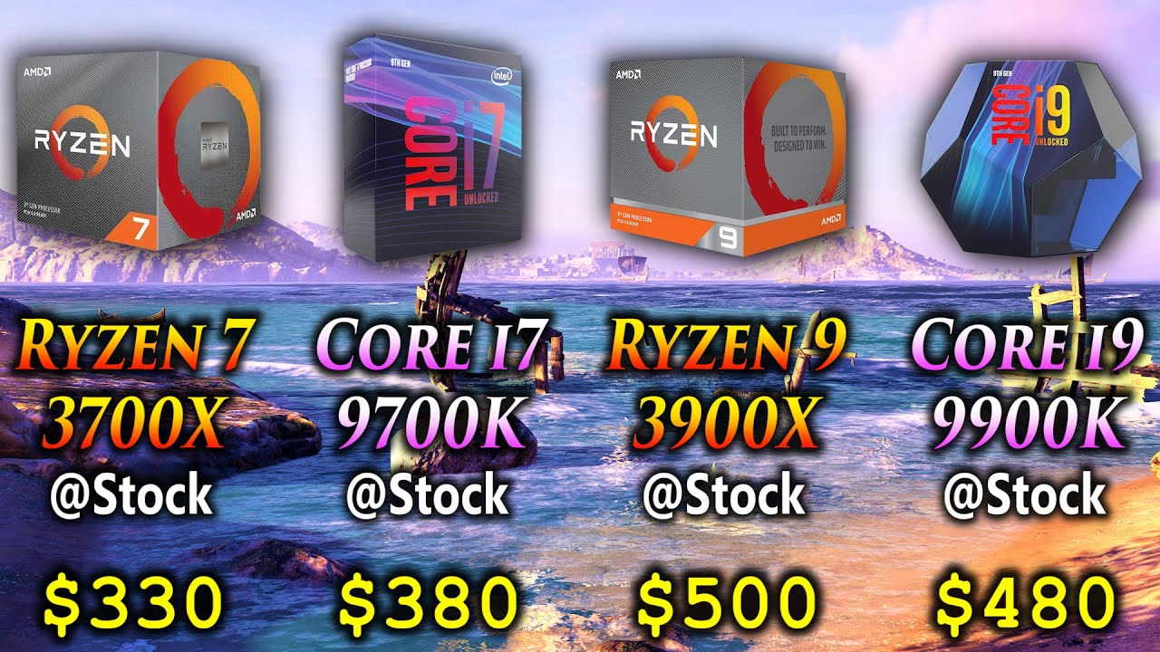 Ryzen 7 3700X vs Core i7 9700K vs Ryzen 9 3900X vs Core i9 9900K   1080p 1440p PC Gameplay Benchmark - YouTube