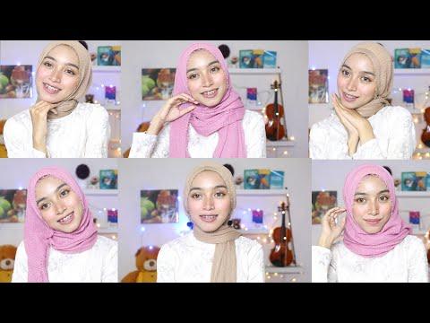 Video Cara Pakai Hijab Pashmina Wajah Bulat