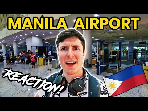 Foreigner Reacts to MANILA AIRPORT (NAIA Terminal 3)!