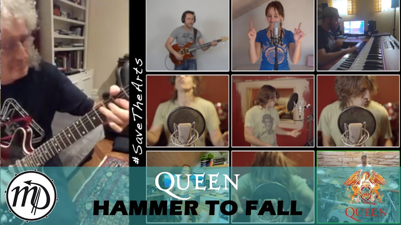 Queen - Hammer To Fall - Full Band Cover feat. Brian May