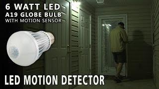 LED A19 Globe Bulb with Motion Sensor