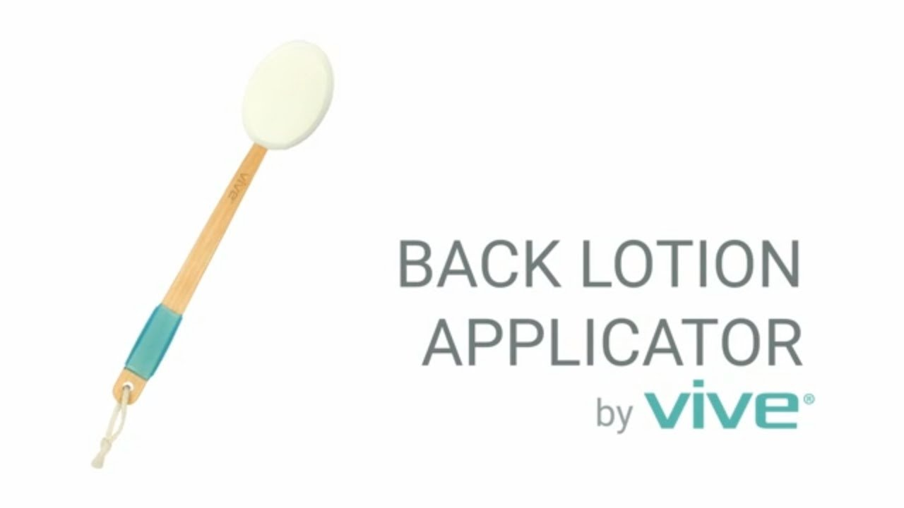 Back Lotion Applicator By Vive Long Reach Handle Applicator With Pad For Easy Self Application Youtube