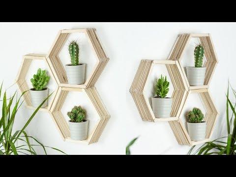Diy Geometrische Zimmer Deko Mit Trinkhalmen