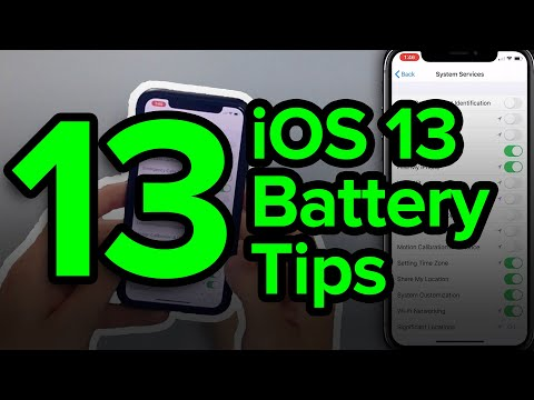 13 iOS 13 iPhone Battery Tips
