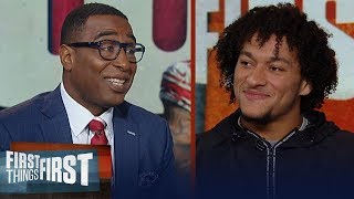 Giants Evan Engram talks OBJ trade, Saquon Barkley's leadership and more | NFL | FIRST THINGS FIRST
